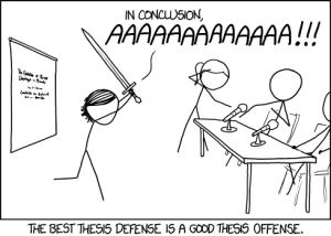 XKCD. Thesis defense